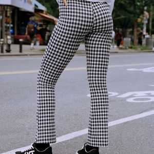 UO kick flare pant in Black and White